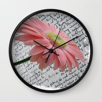 passion Wall Clocks featuring passion by  Alexia Miles photography