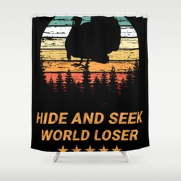 Hide And Seek World Loser Shower Curtain