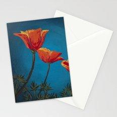 California Dreamin' - Orange Poppies  Stationery Cards
