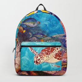 A Good Day for a Swim - Seaturtles in the reef Backpack