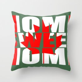 Home Sweet Home (Canada) Throw Pillow
