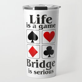 Bridge player gift, Bridge game. Contract Bride, Duplicate Bridge, Bridge lover, Bridge partner Travel Mug