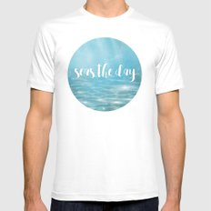 Seas The Day Mens Fitted Tee White MEDIUM