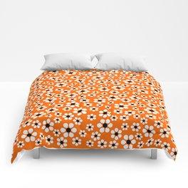 Dizzy Daisies - Orange Comforters