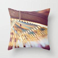 Pink Carousel Throw Pillow