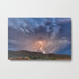 Sunday Evening Monsoon Gem Metal Print