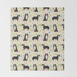 Bernese Mountain Dog easter egg easter bunny dog pattern dog breeds custom art Throw Blanket