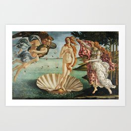 The Birth of Venus by Sandro Botticelli, 1445 Art Print