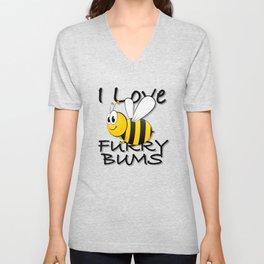 I Love Furry Bums Unisex V-Neck