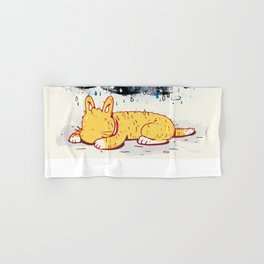 """""""Can a Cat Have an Existential Crisis?"""" by Jackie Ferrentino for Nautilus Hand & Bath Towel"""