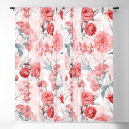 Vintage & Shabby Chic - Rose Blush Garden Flowers Blackout Curtain