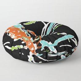 Multicolor Abstract Design Floor Pillow