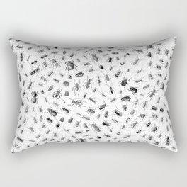 Beetlemania II B&W Rectangular Pillow