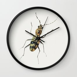 Insect from Insects and Fruits (1660-1665) by Jan van Kessel Wall Clock