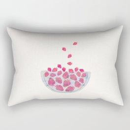 Magic Strawberries in the Bowl Rectangular Pillow