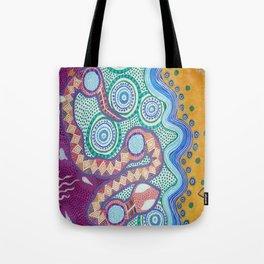 Rainbow Serpent Tote Bag