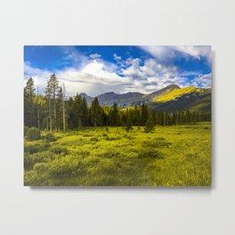 Yellowstone National Park Mountains Landscape Wyoming Montana Print Metal Print