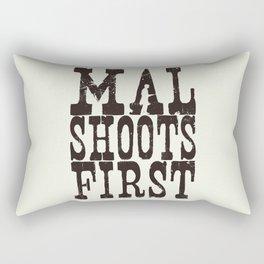 Mal Shoots First Rectangular Pillow
