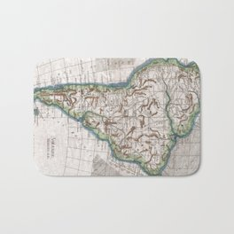 Vintage Map of South America (1780) Bath Mat