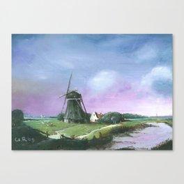 The Netherlands Landscape Oil Painting Canvas Print