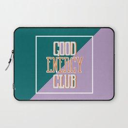 Good Energy Club- turquoise, orange, and lavender Laptop Sleeve