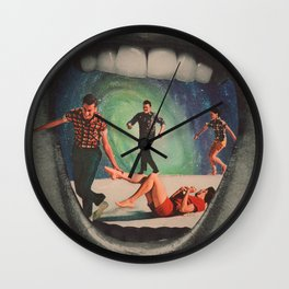 A Crack in the Wall Wall Clock