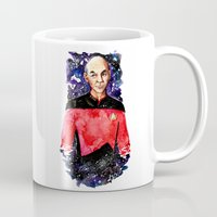 picard Mugs featuring Captain Picard Day by Lady Yate-xel