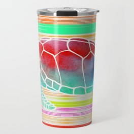 Turtle Collage by Garima and Jacqueline Travel Mug