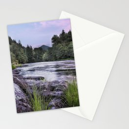 McKenzie River Just After Sunset Stationery Cards