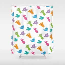 Happy colours cheering -pattern Shower Curtain