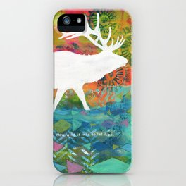 How Wild It Was Elk Collage iPhone Case