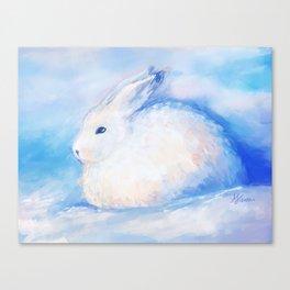 Snow Rabbit Canvas Print