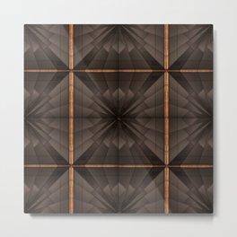 no. 290 black tan white gray Metal Print