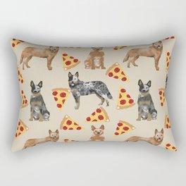 Australian Cattle Dog pizza slice pet friendly dog breed dog pattern art Rectangular Pillow