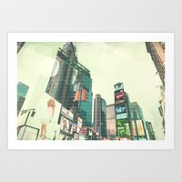 sex and the city Art Prints featuring Sex and the City by PIXERS