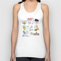map Tank Tops featuring MAP by Villaraco