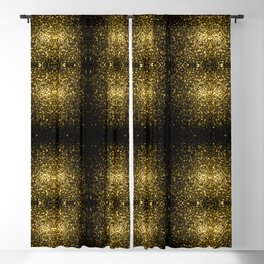 Beautiful Yellow Gold sparkles Blackout Curtain