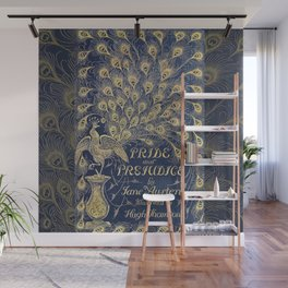 Pride and Prejudice by Jane Austen Vintage Peacock Book Cover Wall Mural