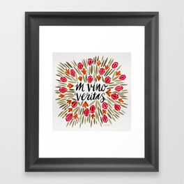 In Wine, There is Truth – Red Framed Art Print