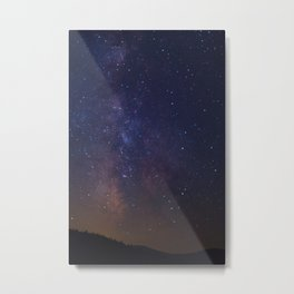 The Milky Way Galaxy Over The White Mountains Metal Print