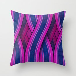 Psychedelic Route Throw Pillow