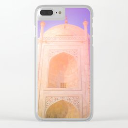 Morning Light Reflexion at Taj Mahal Clear iPhone Case