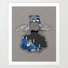 Nightlights and Oven Mitts Art Print