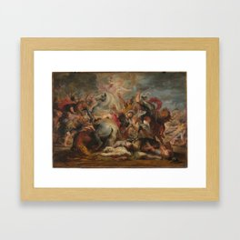 RUBENS, PIETER PAUL Siegen, Westfalia, 1577 - Amberes, 1640 Miniatura autor The Death of the Consul Framed Art Print