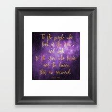To the Stars - ACOMAF Framed Art Print