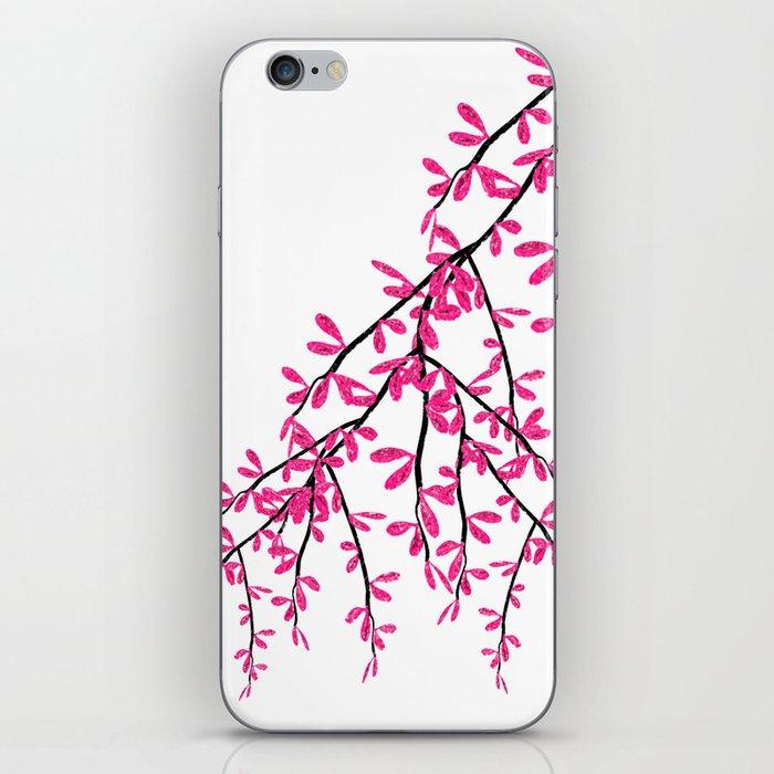 Pink Tree Branch iPhone Skin