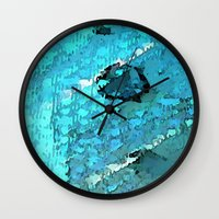 voyage Wall Clocks featuring Voyage by Paul Kimble