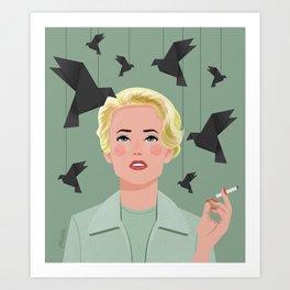 Tippi Hedren. The Birds  Art Print