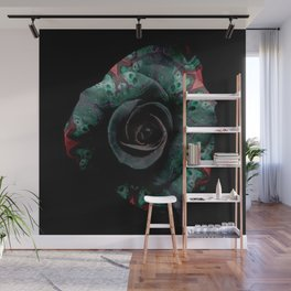 Dark Rose - Abstract Floral Photography by Fluid Nature Wall Mural