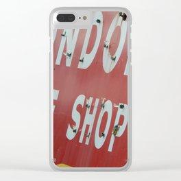 London Shoe Shop Clear iPhone Case